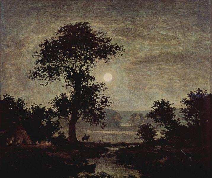 Luz de luna (de Ralph Albert Blakelock) 1885