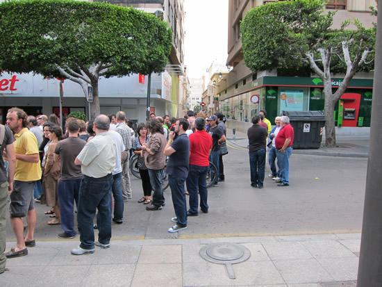 15M Bewegung verlief gestern ruhig in Almeria
