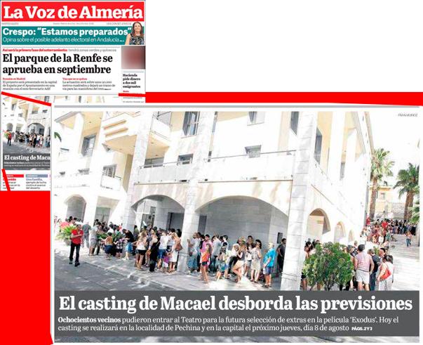 La voz de Almería, portada