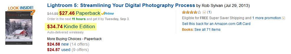 eBook más caro que la edición en papel