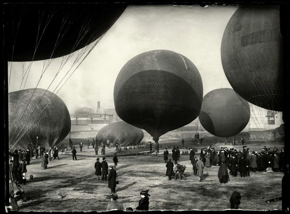 Concurso de globos de madrid, 1913. Foto de Luís Ramón Marín