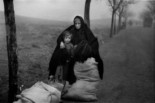 Evacuación en Teruel, 1937. Foto de Luís Ramón Marín