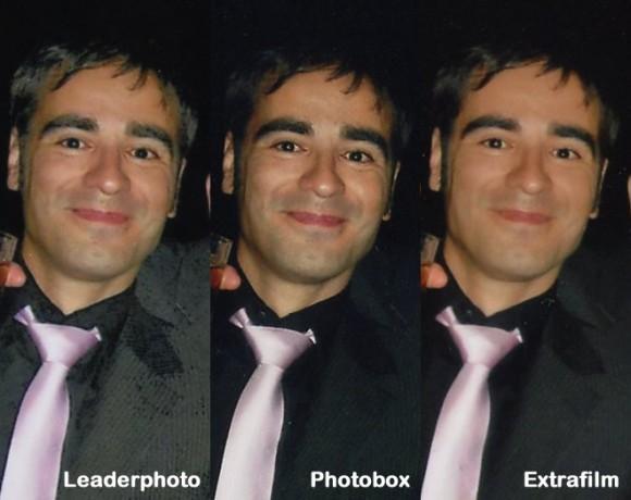 Retrato nocturno comparando 3 procesados
