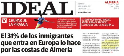 Titular de Ideal Almería de 4 de agosto 2016