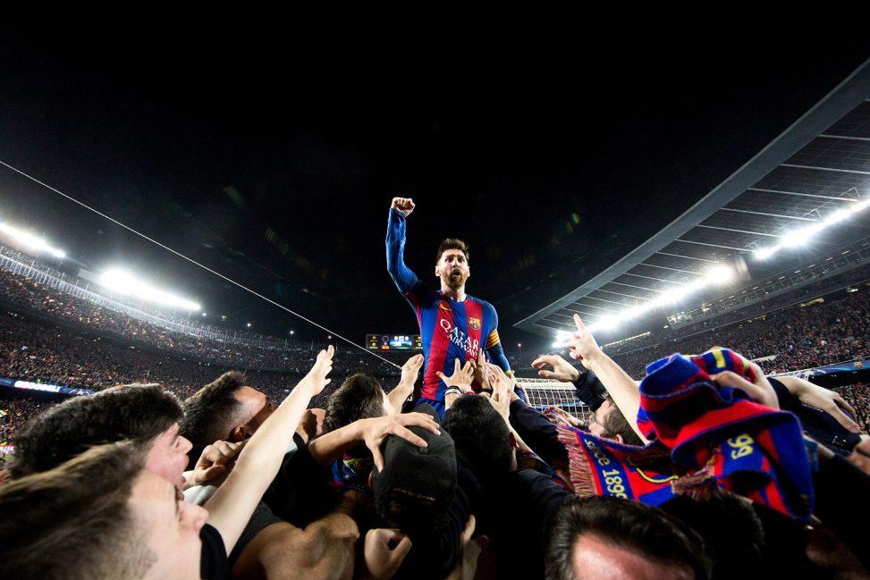 Messi celebrando el 6-1 frente al PSG © Santiago Garcés
