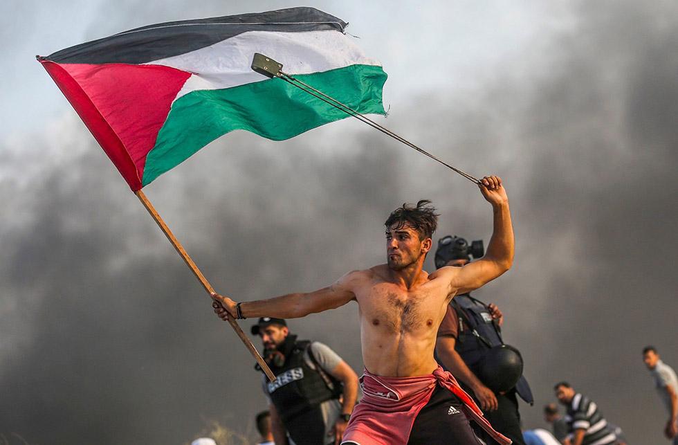 Decimotercer intento de romper el bloqueo marítimo del puerto de Gaza© Mustafa Hassouna (AA/Getty)