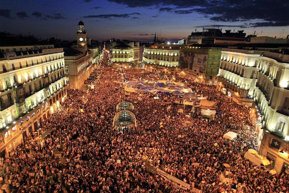 Puerta del Sol 20 de mayo de 2011. Foto de Álvaro García para El País.