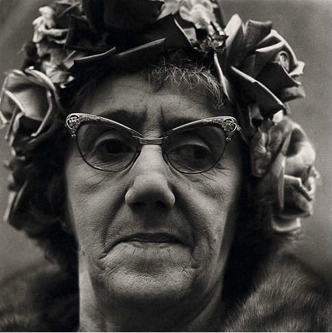 Woman in a rose hat; NYC 1966 (Diane Arbus)