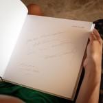 Y el autógrafo del genial Pérez-Siquier