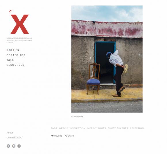 Captura de la web del Colectivo X100C