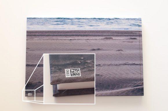 Álbum digital Saal: Detalle del código de barras