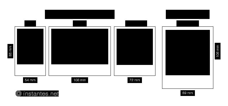 Comparando películas instantáneas: Fujfilm Instax Mini, Wide y Square vs Polaroid