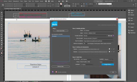 Plugin de InDesign para crear publicaciones de Blurb