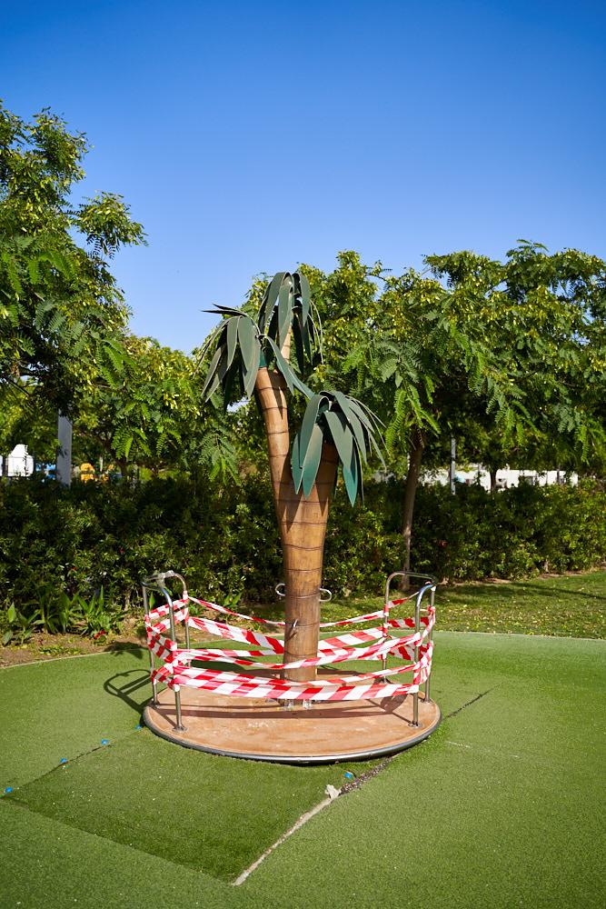 Fake plastic tree