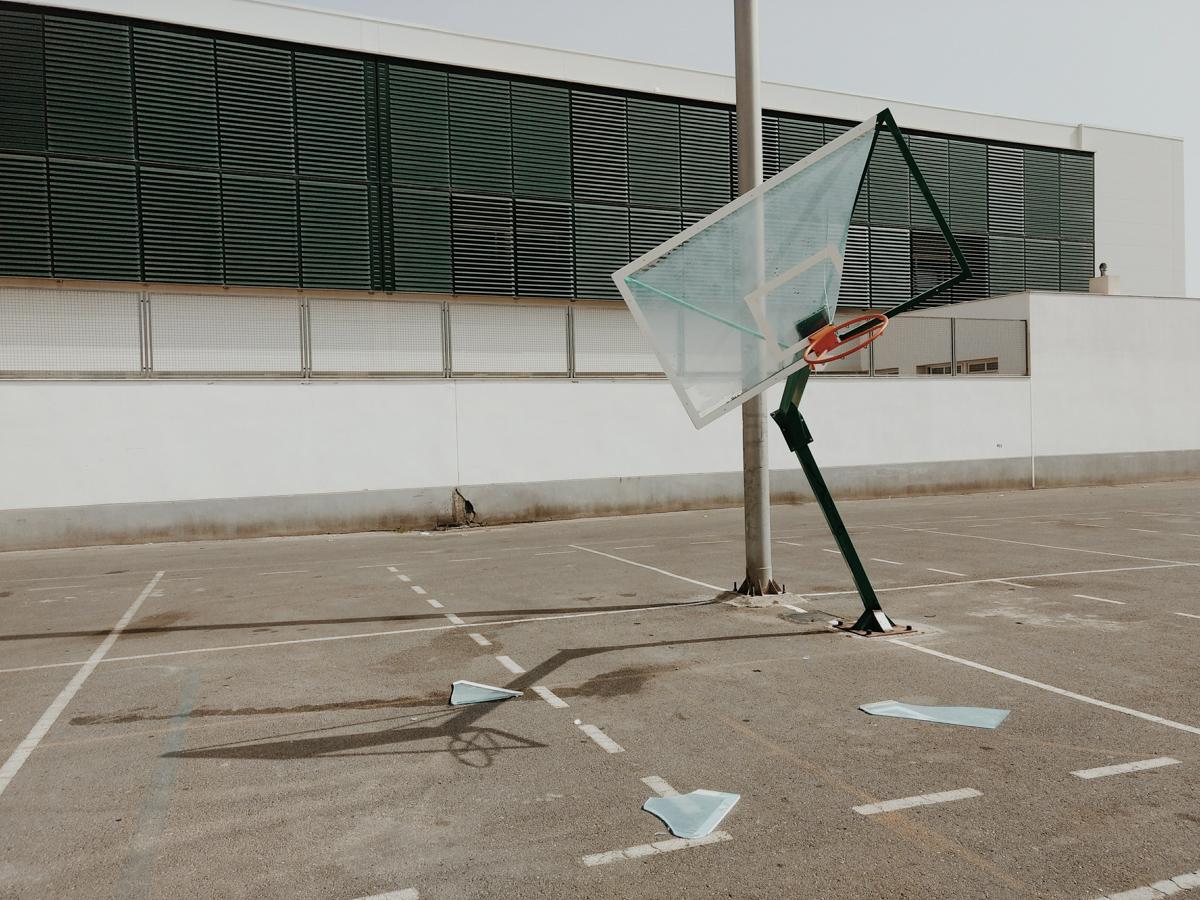Slam dunk crash , foto de Antonio Martínez Corral, 2018, Almería