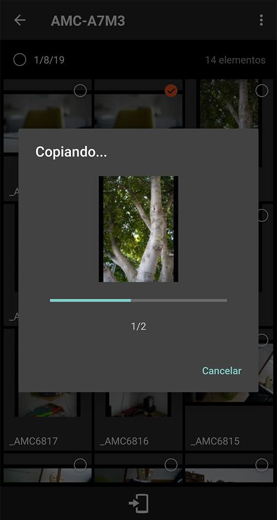Transfieriendo imágenes de la A7 III al móvil