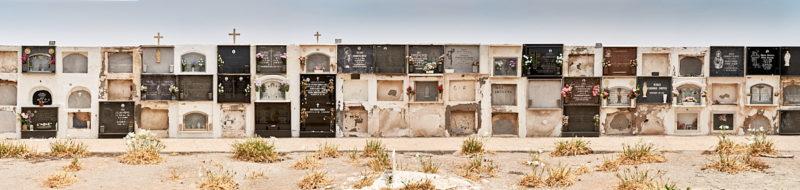 Nichos del cementerio de Cabo de Gata
