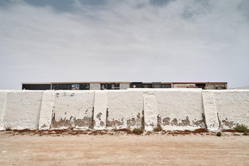 Exterior del cementerio de Cabo de Gata (Almería)