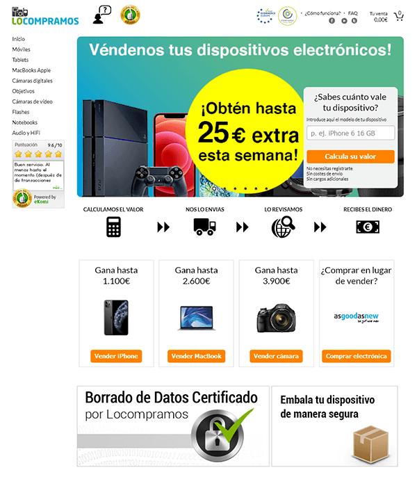 Página principal de locompramos.es